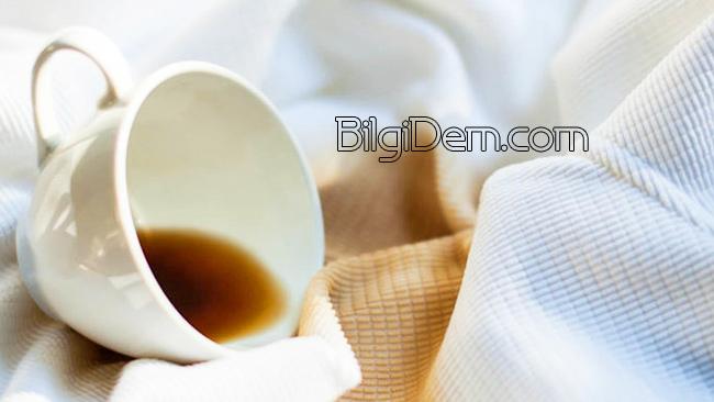 Giysi Ve Kumaşlardaki Kahve Lekesi Nasıl Çıkar?