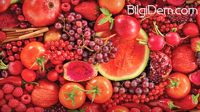 Kırmızı Yiyeceklerin Sağlık İçin Yararları