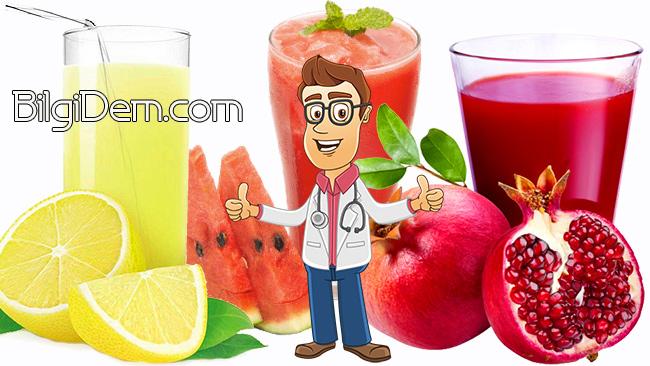 Böbrek Taşını Önlemek İçin Sağlıklı Meyve Suları