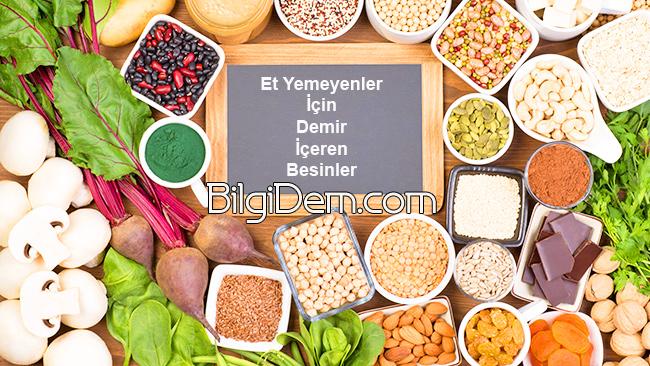 Vejeteryan – Veganlar İçin Demir İçeren Besinlerin Listesi